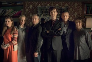 Louise Brealey, Amanda Abbington, Martin Freeman, Benedict Cumberbatch, Rupert Graves, Una Stubbs