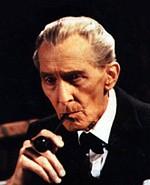 Peter Cushing as Holmes